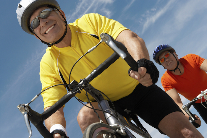 Friends Enjoying a Bicycle Ride